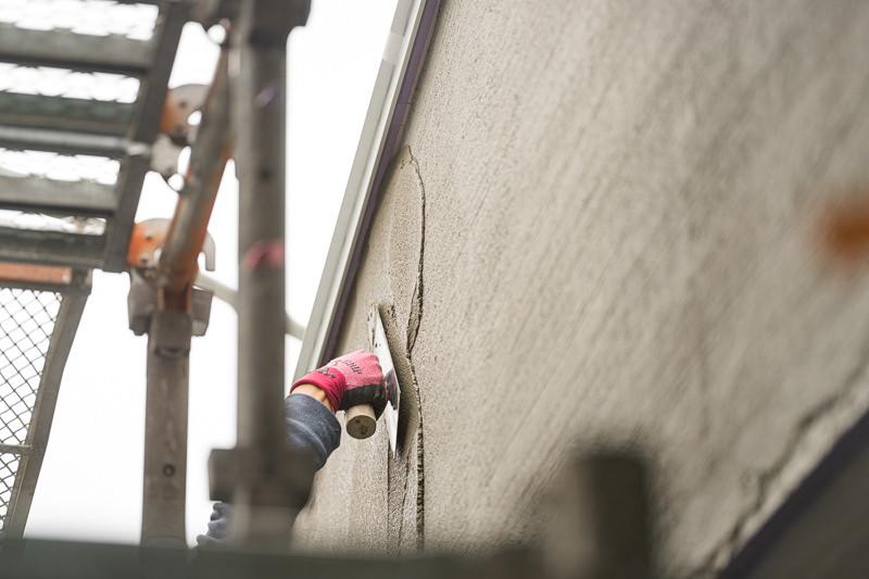 甲府市の家造り F様邸(壁塗り)